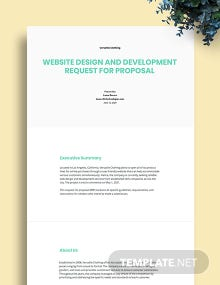 Development Request for Proposal Template