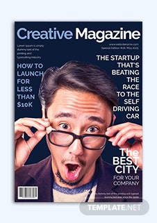 Creative Magazine Cover Page Template