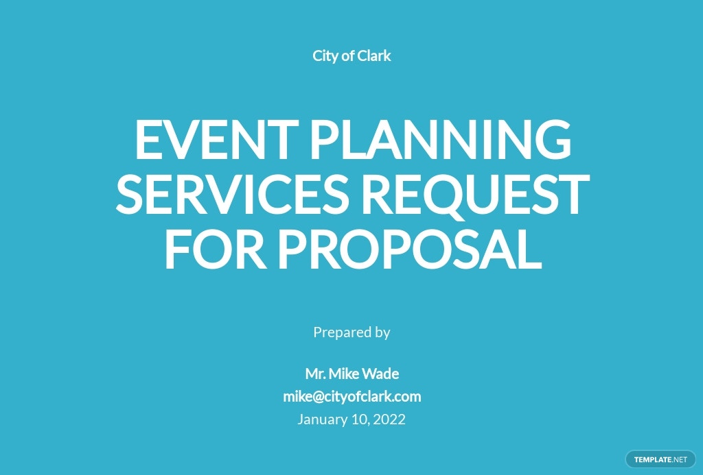 Event Planning Request for Proposal Template