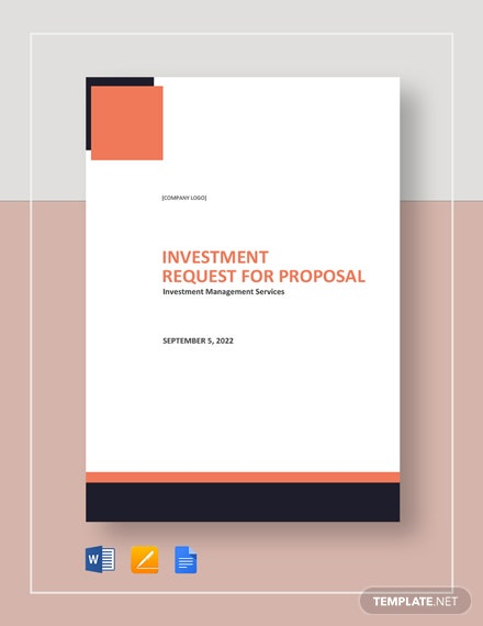 Investment Request for Proposal Template