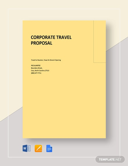 Corporate Travel Proposal Template