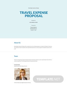 Travel Expense Proposal Template