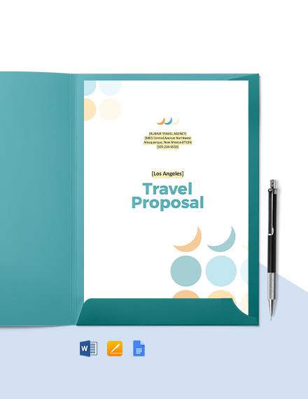 Travel Mangement Proposal Template