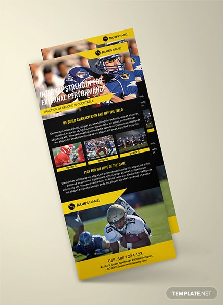Free Sports Rack Card Template