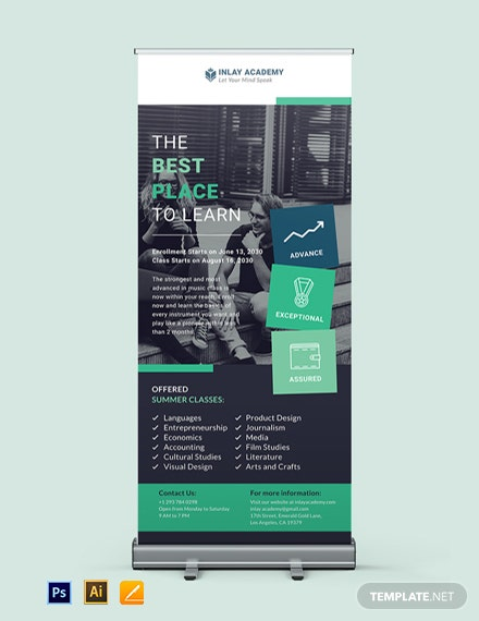 Education Roll Up Banner Template