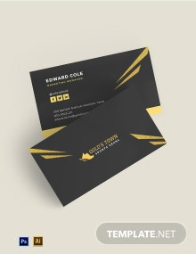 Free Simple Gold Foil Business Card Template