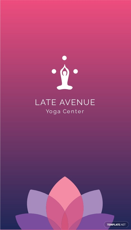 Yoga Center Business Card Template