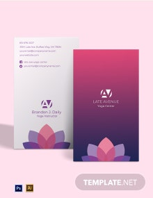 Yoga Center Business Card Template
