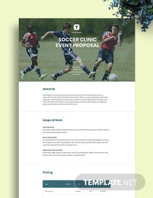 Sports Event Proposal Template