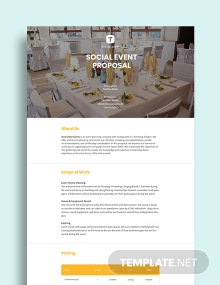 Social Event Proposal Template