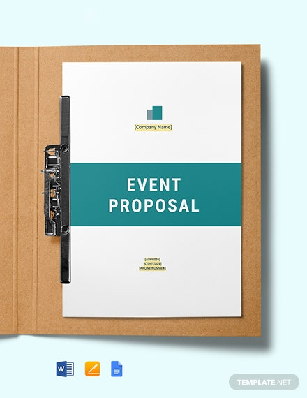 Seminar Event Proposal Template