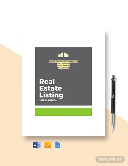 Real Estate Sales Proposal Template