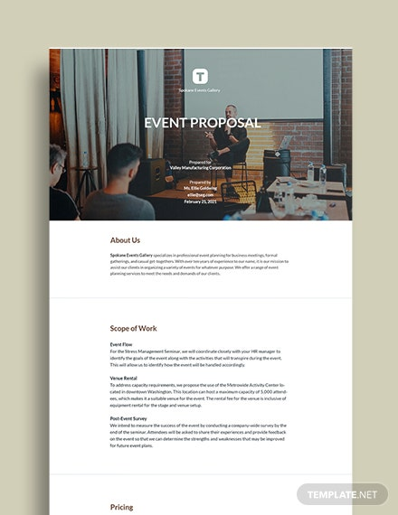 Free Sample Event Proposal Template