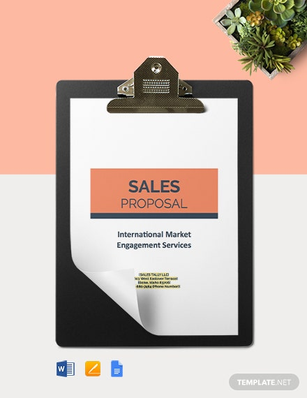 Sales Agency Proposal Template