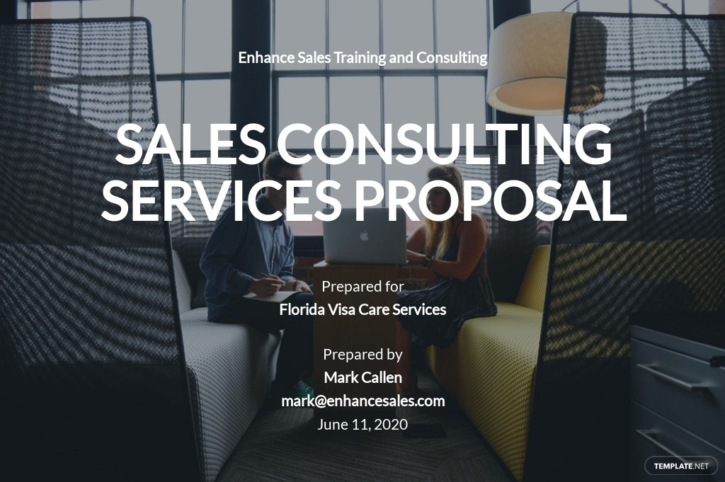 Sales Consulting Proposal Template