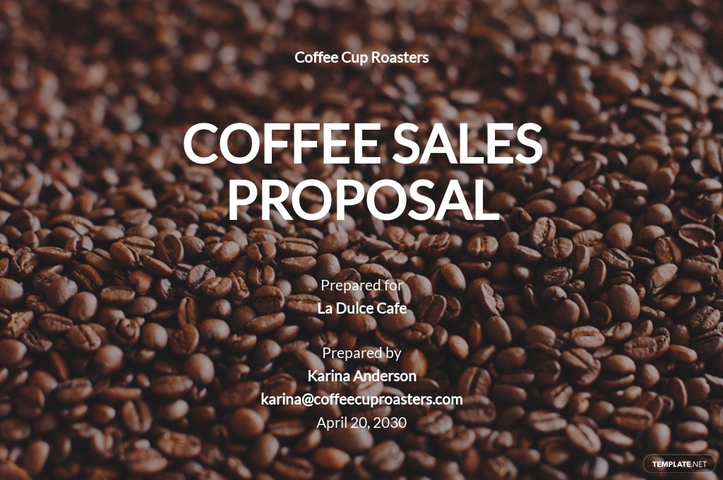 Short Sales Proposal Template