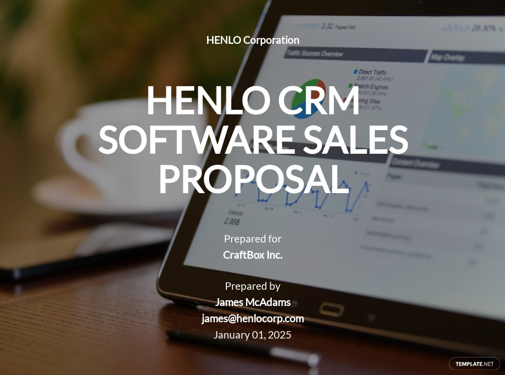 Software Sales Proposal Template