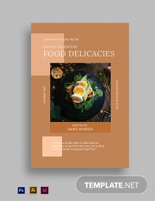 Cookbook Book Cover Template