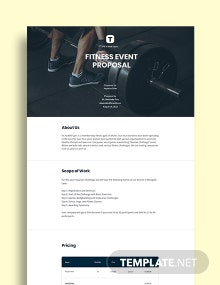 Fitness Event Proposal Template