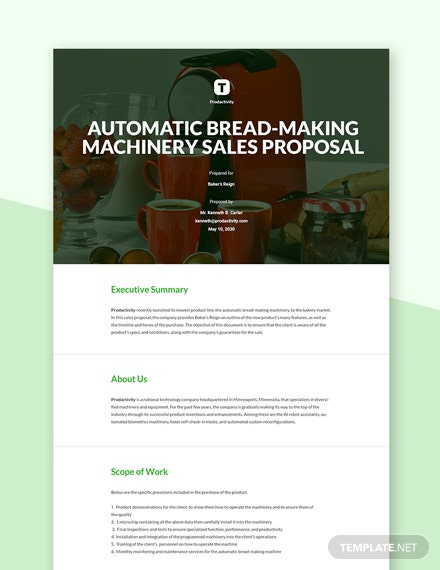 Technology Sales Proposal Template