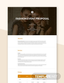 Fashion Event Proposal Template
