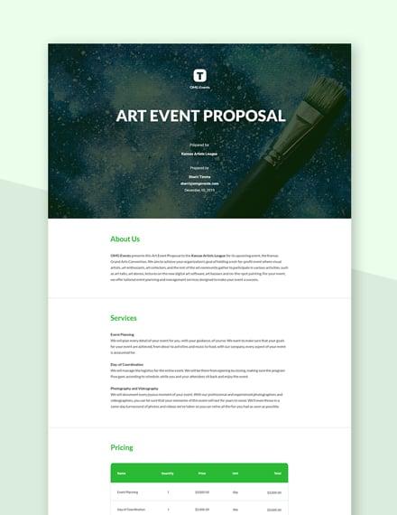Art Event Proposal Template