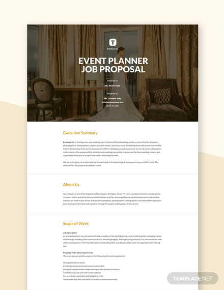 Event Planner Proposal Template