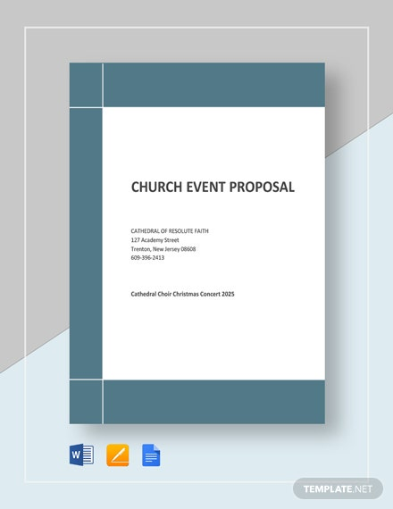 Charity Event Proposal Template