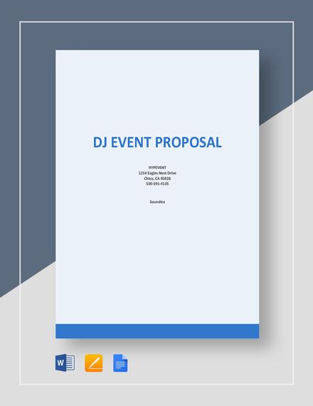 DJ Event Proposal Template