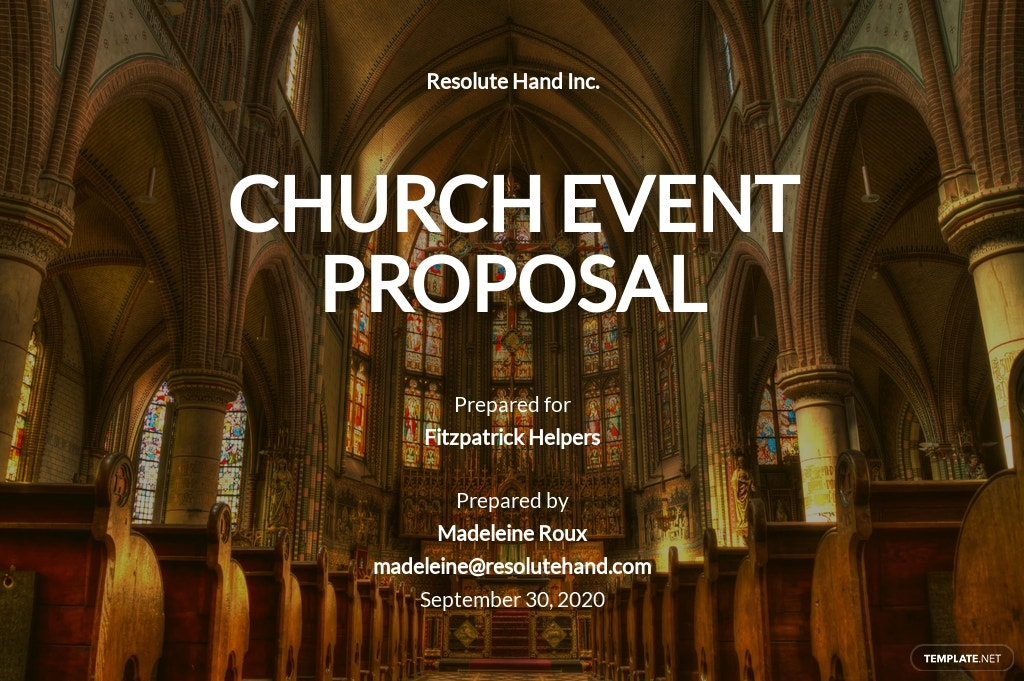 Church Event Proposal Template