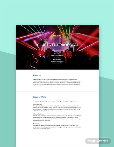 Club Event Proposal Template