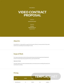 Video Contract Proposal Template