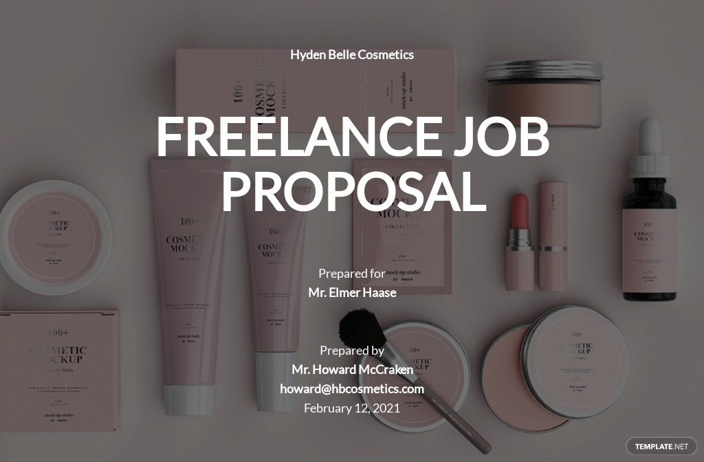 Freelance Job Proposal Template