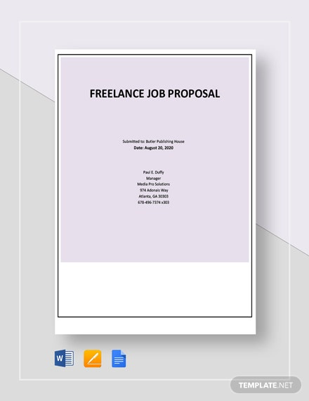 Freelance Job Proposal Template