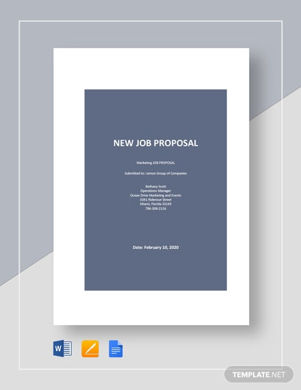 New Job Proposal Template