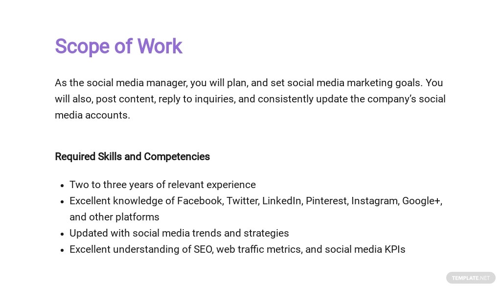 Social Media Job Proposal Template [Free PDF] - Google Docs, Word, Apple Pages
