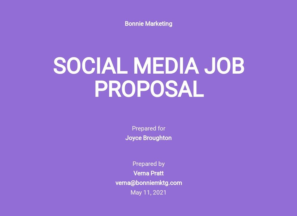 Social Media Job Proposal Template