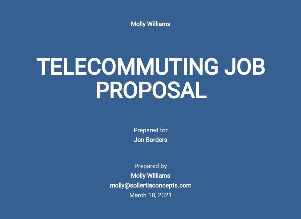 Telecommuting Job Proposal Template