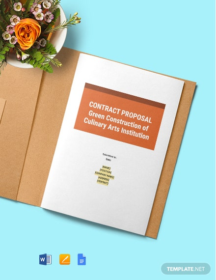 Building Contract Proposal Template