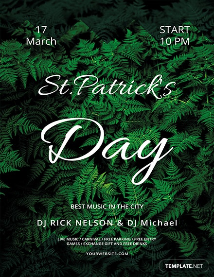 st patrick s day flyer template 1x