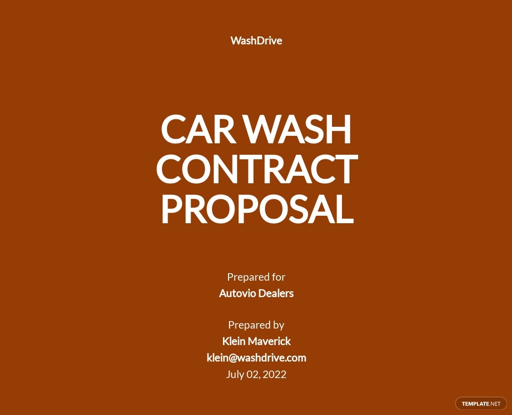 car wash Contract Proposal
