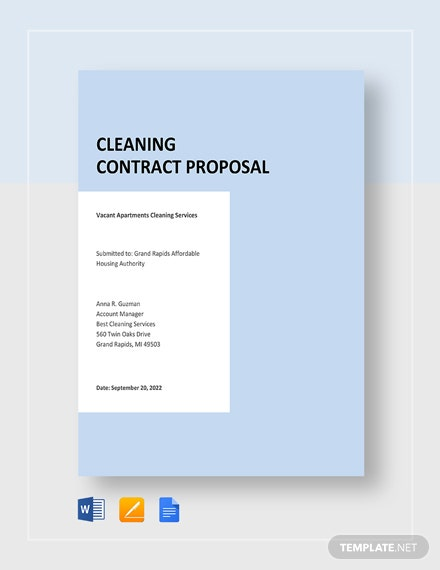 Cleaning Contract Proposal Template