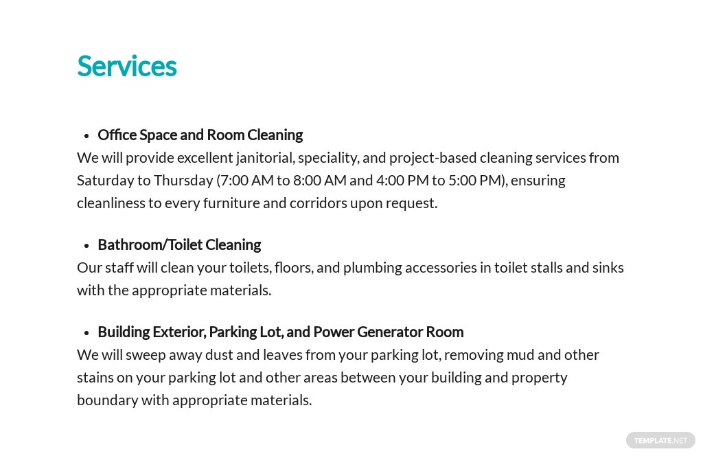 Commercial Cleaning Services Contract Proposal Template 2.jpe