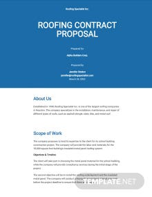 Roofing Contract Proposal Template