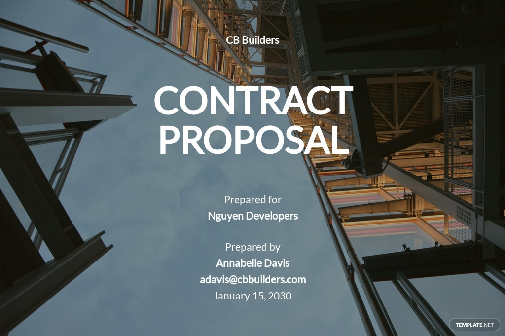 Construction Contract Proposal Template