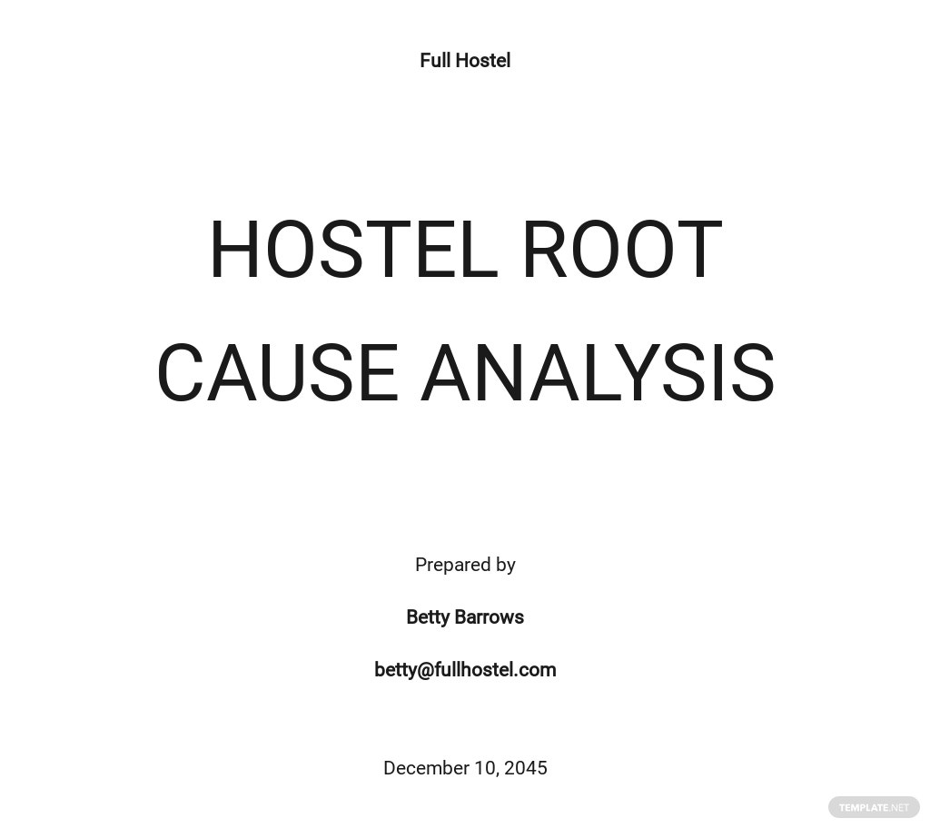 Free Blank Root Cause Analysis Template