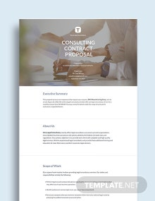Consulting Contract Proposal Template