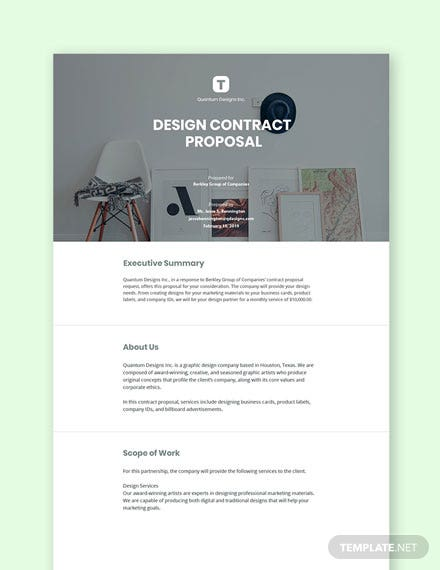 Design Contract Proposal Template