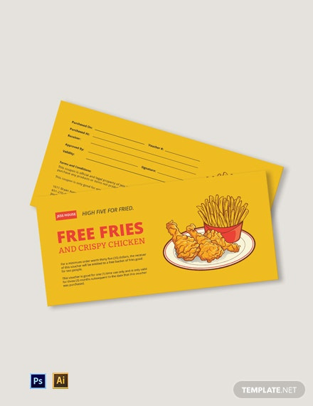 Simple Restaurant Gift Voucher Template