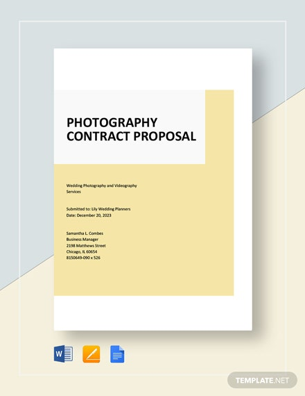 Photography Contract Proposal Template